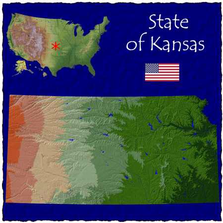 hi res aerial view of Kansas, USA photo