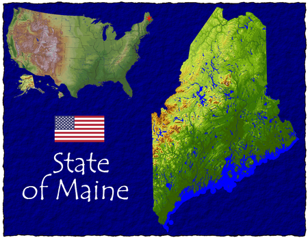 hi res aerial view of Maine, USA Stock Photo