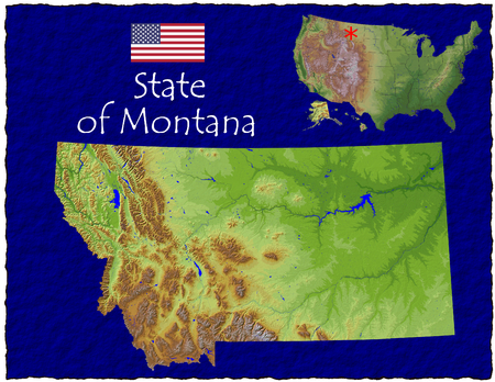 hi res aerial view of Montana, USA photo