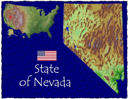hi res aerial view of Nevada, USA photo