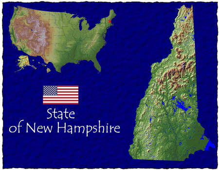 hi res aerial view of New Hampshire, USA photo