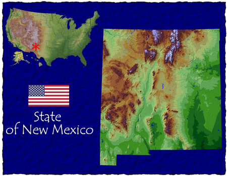 hi res aerial view of New Mexico, USA photo