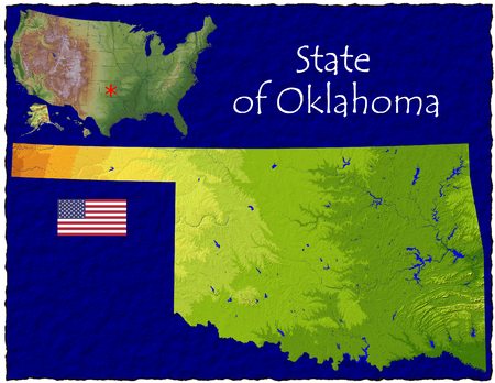 hi res aerial view of Oklahoma, USA photo