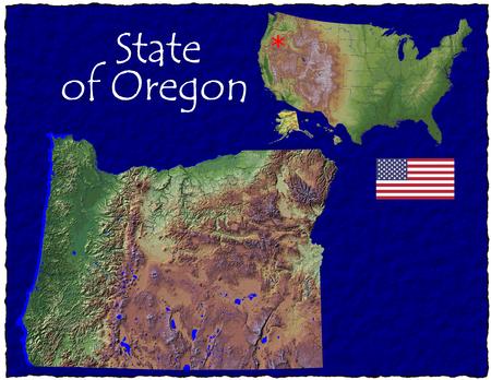 Oregon, USA hi res aerial view