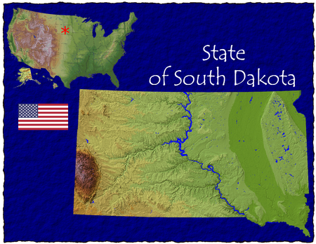 hi res aerial view of South Dakota, USA photo