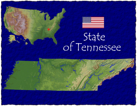 hi res aerial view of Tennessee, USA photo