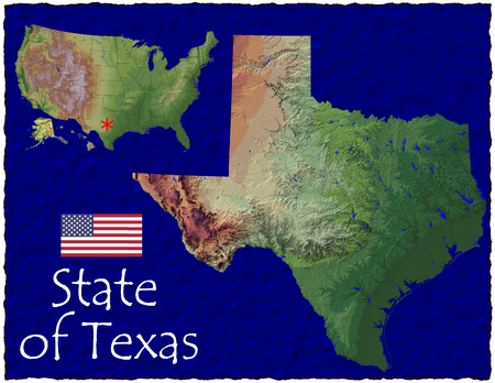 hi res aerial view of Texas, USA photo