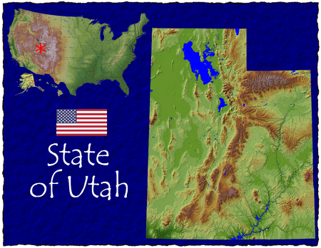 hi res aerial view of Utah, USA photo