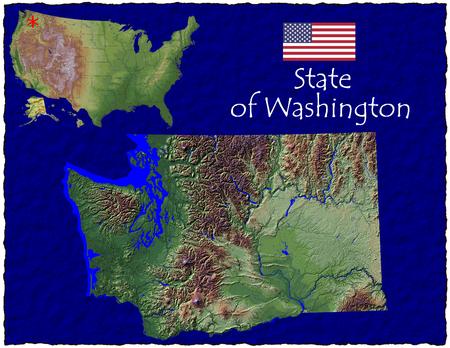 hi res aerial view of Washington, USA
