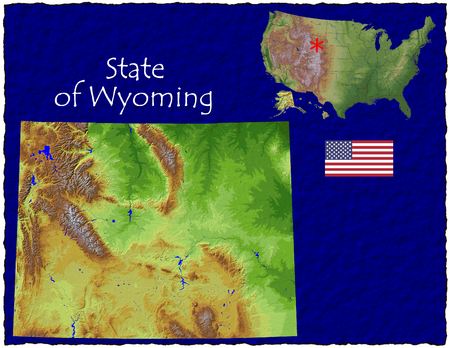 hi res aerial view of Wyoming, USA photo