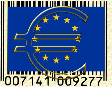 european union currency: C�digo de barras moneda de la uni�n europea