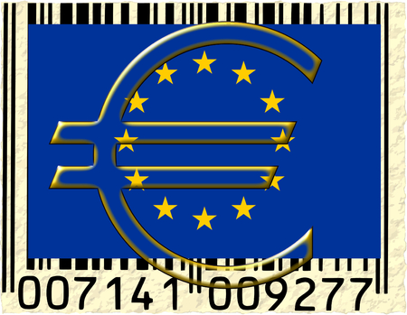 European union currency barcode photo