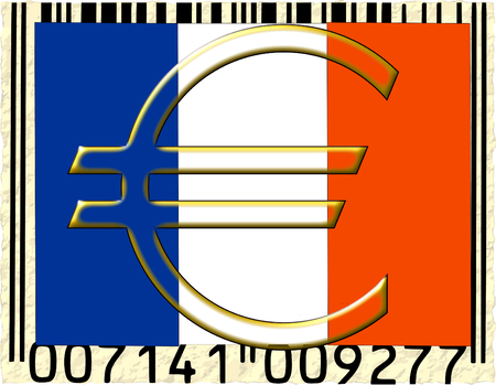 France euro currency flag barcode photo