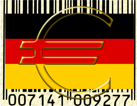 Germany euro currency flag barcode photo