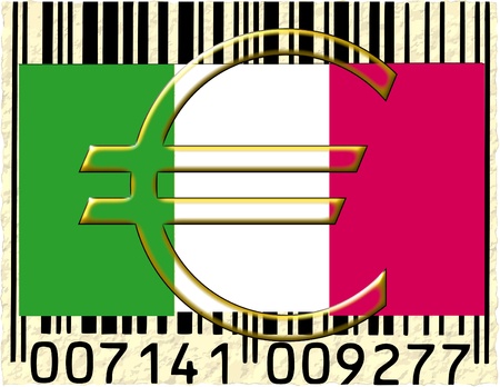 Italy euro currency flag barcode photo