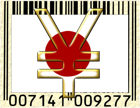 Japan yen currency flag barcode photo