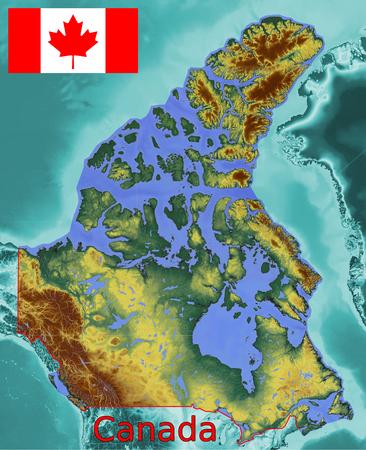 Canada map flag coat
