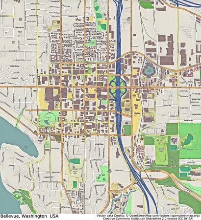 bellevue: Bellevue Washington aerial view