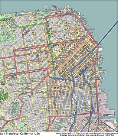 cenital: Vista a�rea San Francisco California
