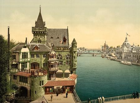 Ancient Paris,France , and perspective of the bridges