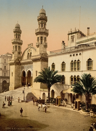 historic world event: Cathedral, Algiers, Algeria Editorial