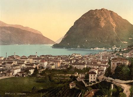 Lugano, general view, Tessin, Switzerland 報道画像