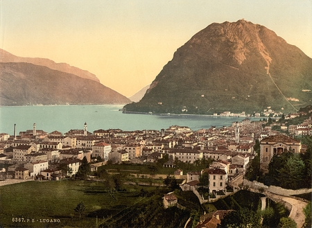Lugano, general view, Tessin, Switzerland 新闻类图片