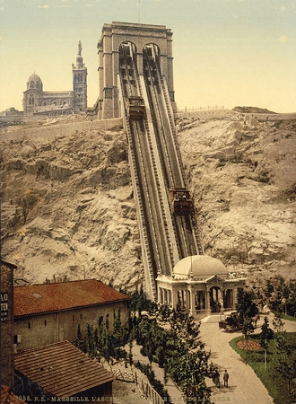 Cable railway, Marseilles, France