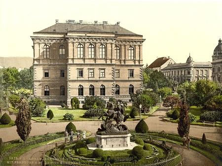 Agram, Academiënpaleis, Kroatië, Oostenrijk-Hongarije Redactioneel
