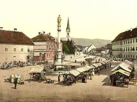 Agram Palace ,, Kroatië, Oostenrijk-Hongarije Redactioneel