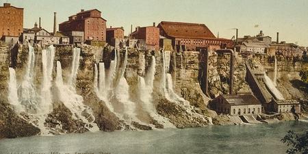 Niagara, mills on American shore 報道画像