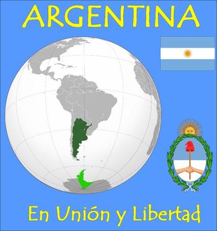 Argentina location emblem motto Vector