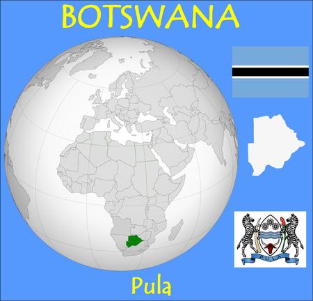 conurbation: Botswana location emblem motto