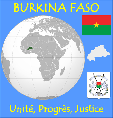 renminbi: Burkina Faso location emblem motto Illustration