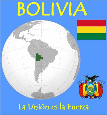 conurbation: Bolivia location emblem motto