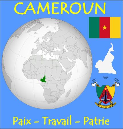 conurbation: Cameroon location emblem motto