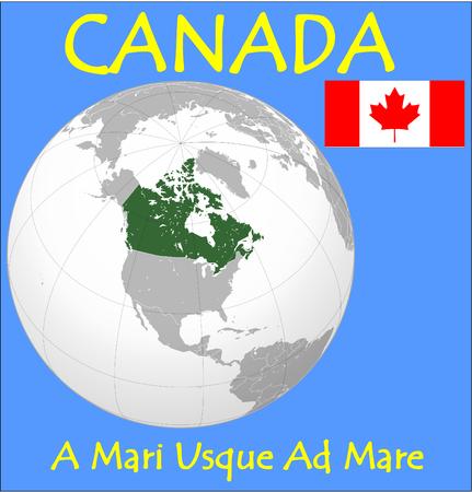 conurbation: Canada location emblem motto