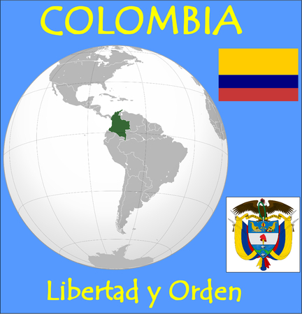 Colombia location emblem motto