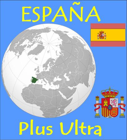 Spain location emblem motto