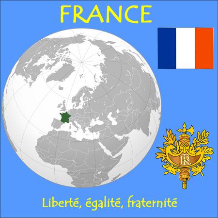 conurbation: France location emblem motto