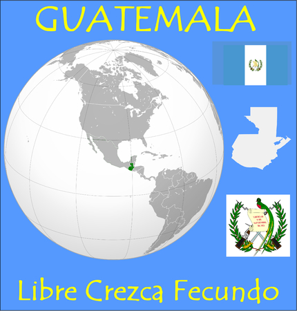conurbation: Guatemala location emblem motto