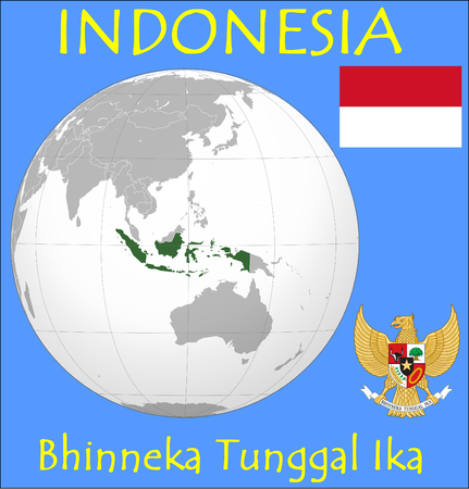 conurbation: Indonesia location emblem motto