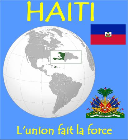 conurbation: Haiti location emblem motto