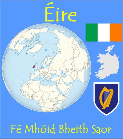 conurbation: Ireland location emblem motto