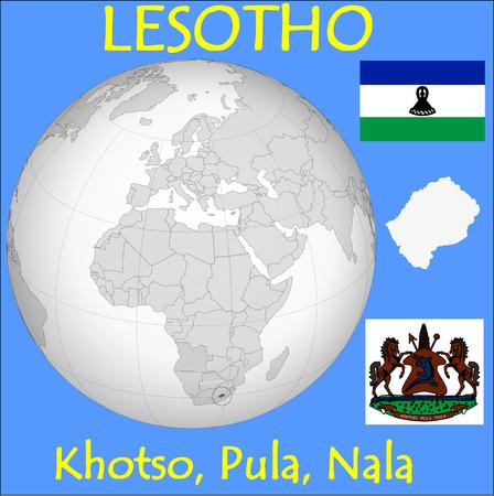 conurbation: Lesotho location emblem motto