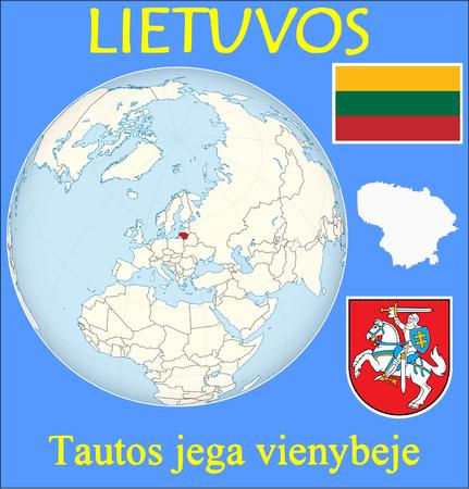 conurbation: Lithuania location emblem motto Illustration