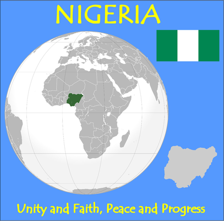 historic world event: Nigeria location emblem motto