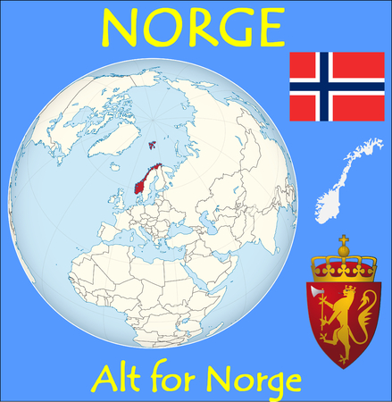 Norway location emblem motto 矢量图像