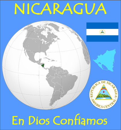 Nicaragua location emblem motto
