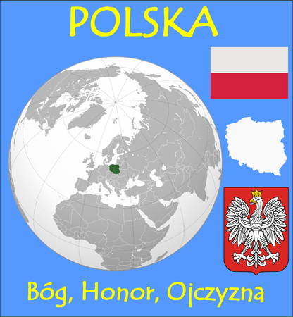 renminbi: Poland location emblem motto